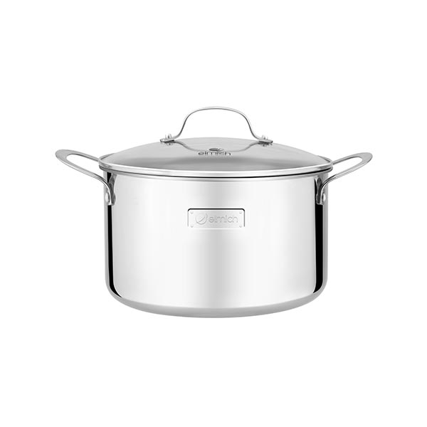 High-grade stainless steel pot with 3 layers of seamless bottom Tri-Max 18cm