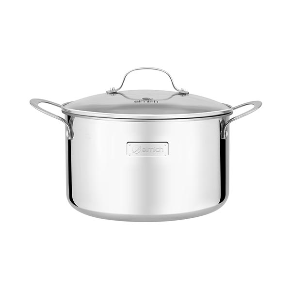 High-class stainless steel pot with 3 layers of seamless Tri-Max 20cm