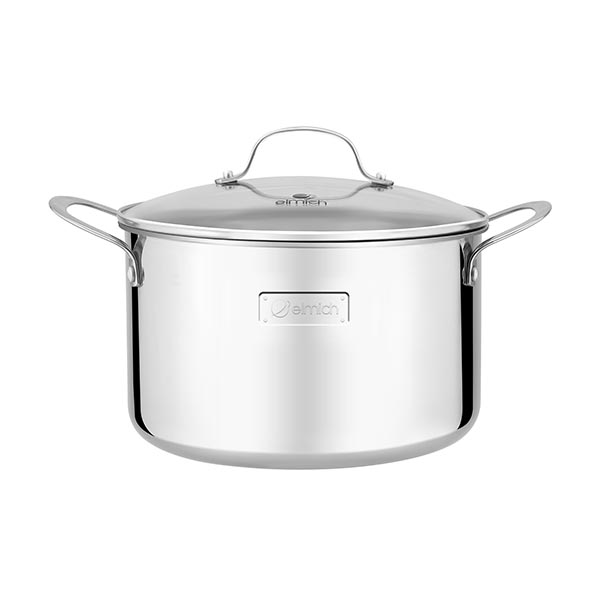 High-class stainless steel pot with 3 layers of seamless bottom Tri-Max 24cm