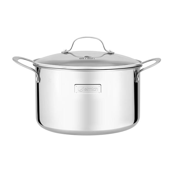 High-grade stainless steel pot 3 layers of seamless bottom Tri-Max 26cm