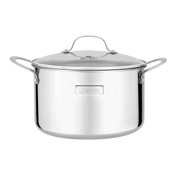 High-grade stainless steel pot with 3 layers of seamless bottom Tri-Max 28cm